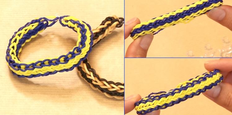 Bracelet élastique Rainbow Loom : le modèle réversible