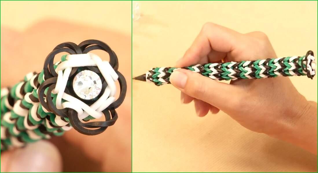 Comment habiller un crayon en élastique ?