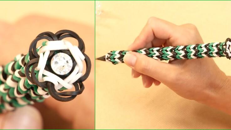 Comment habiller un crayon avec des élastiques Rainbow Loom