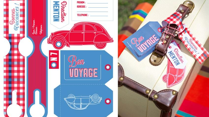 Gratuit, le kit d'étiquettes pour valises