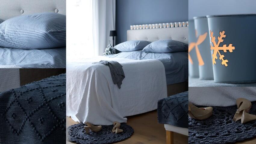 Idée déco : une chambre en camaieu de bleu