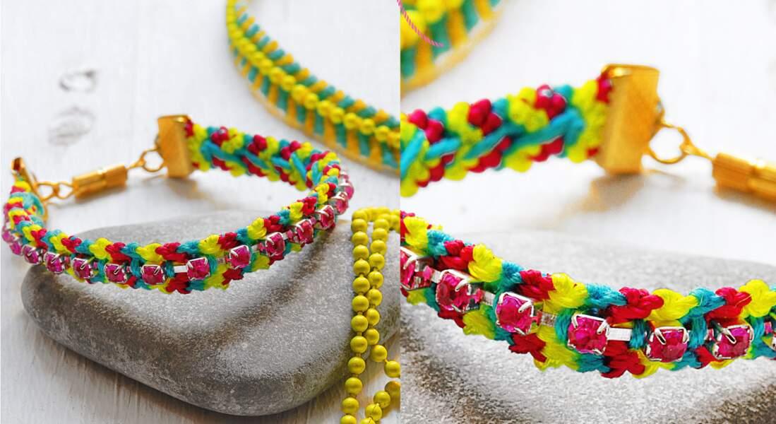 Ultra féminin, le bracelet brésilien à perles et strass