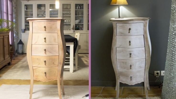Bricolage en vidéo : comment bien céruser un meuble ? : Femme ...
