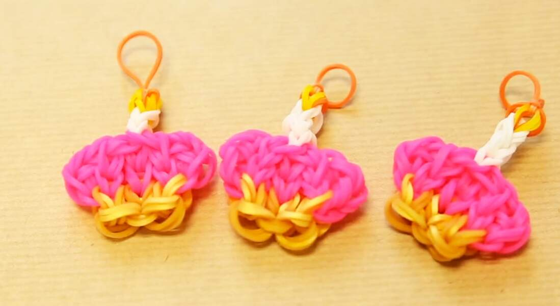 Rainbow Loom : un charms cupcake