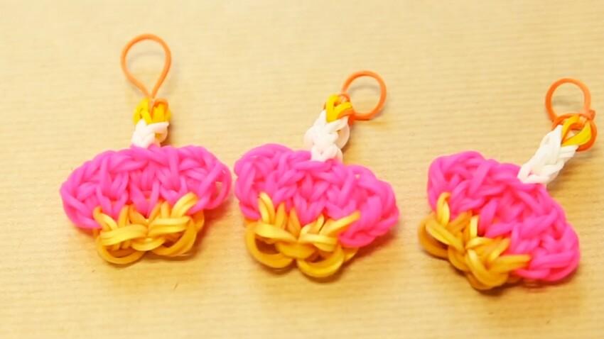 Rainbow Loom : un charms cupcake