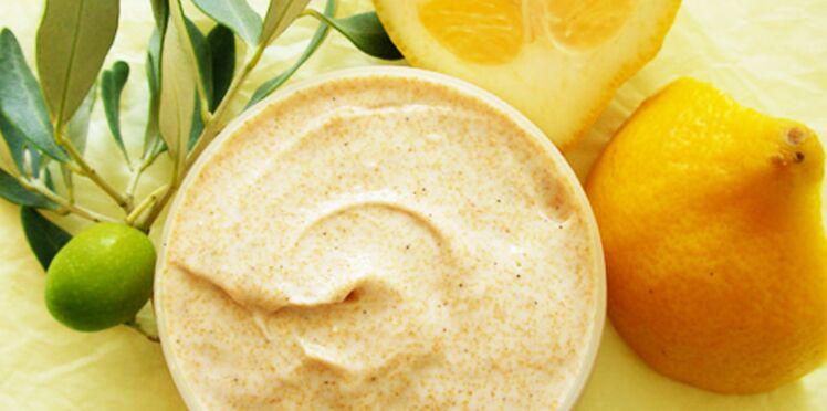 Crème de gommage à l'olive et au citron