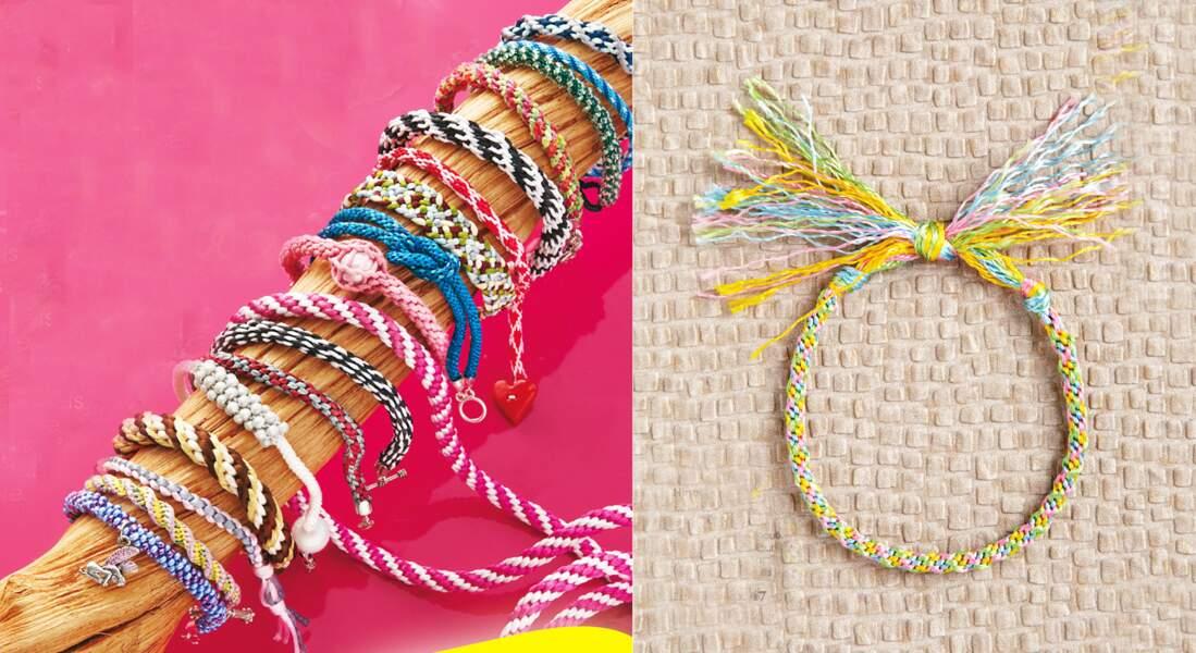 Kumihimo : le bracelet d'amitié
