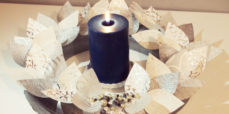 Bricolage de Noël facile : une couronne en papier