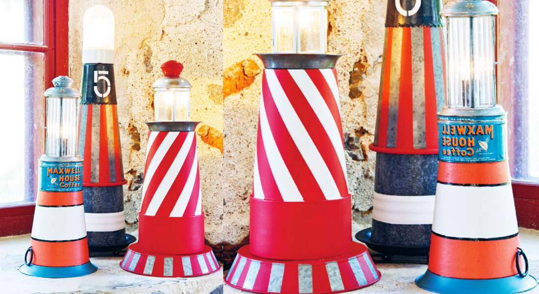 Une lampe phare maritime