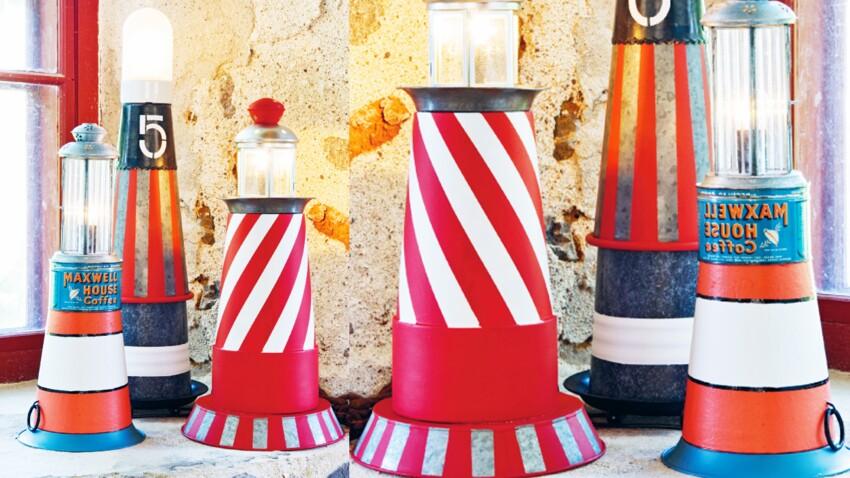 Idée récup  : une lampe phare maritime