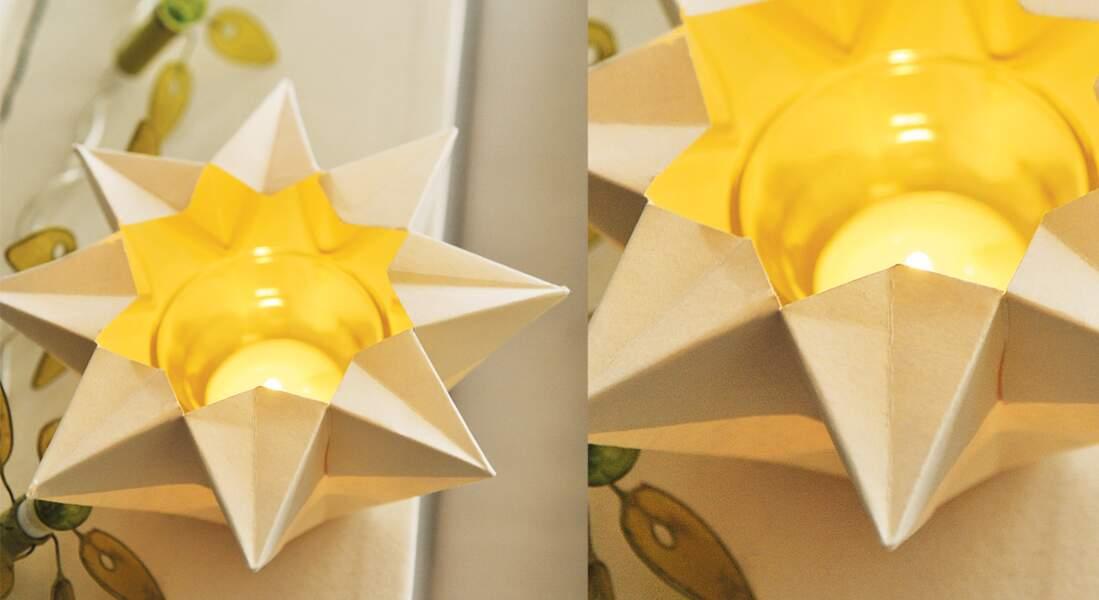 Origami facile : un photophore étoilé