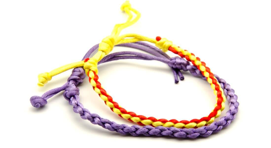 Un bracelet Kumihimo à 4 brins