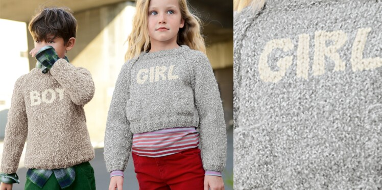 Le pull court Girl