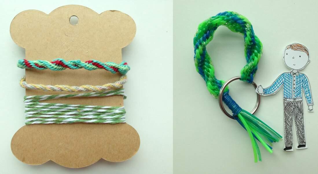 Un bracelet Kumihimo torsadé