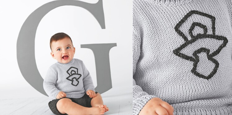 Tricot : le pull pour bébé au point jersey