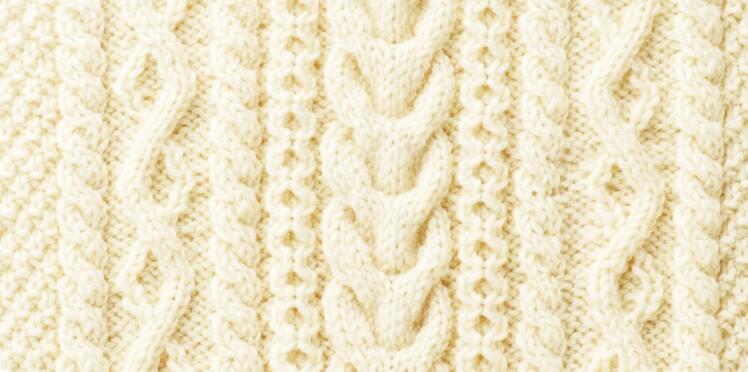 0335a70d9077 Tricot   comment faire des torsades en des motifs Aran     Femme ...