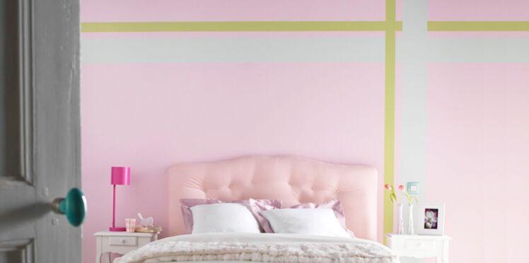 Des bandes de peintures pastel dans ma chambre