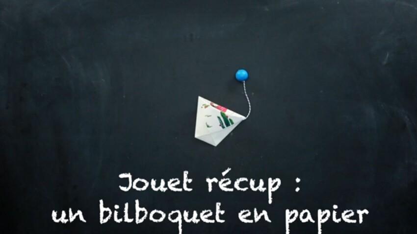 Jouet récup' : un bilboquet en papier