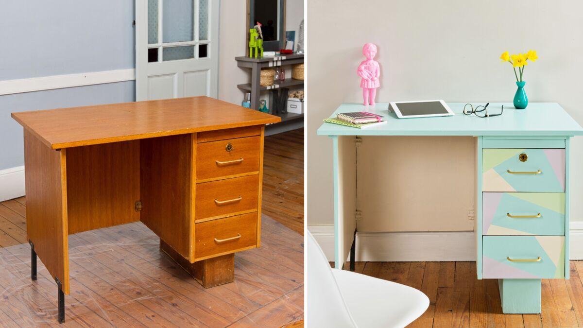 Relooker Une Piece Bureau relooker son bureau en meuble pop et graphique : femme
