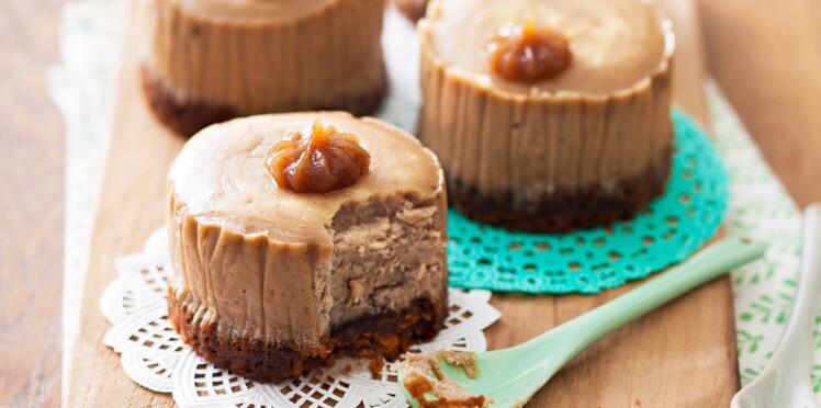 Cheesecakes à la crème de marrons d'Ardèche et spéculoos