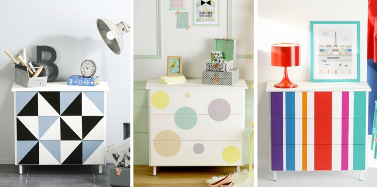 Relooking : une commode en 3 versions