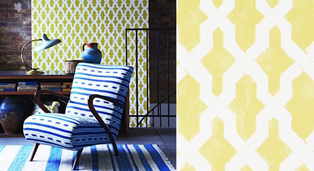 Moderniser son salon avec un lé de papier peint