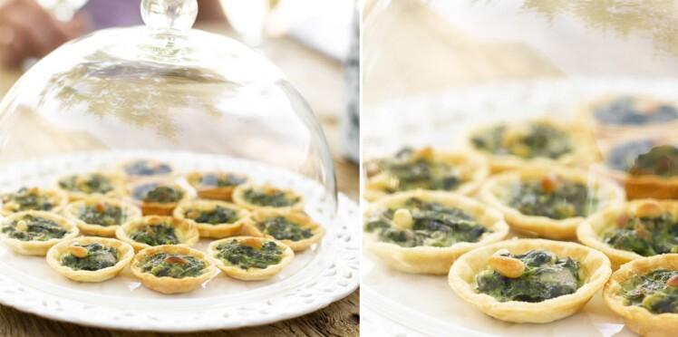 Mini-quiches au légumes verts