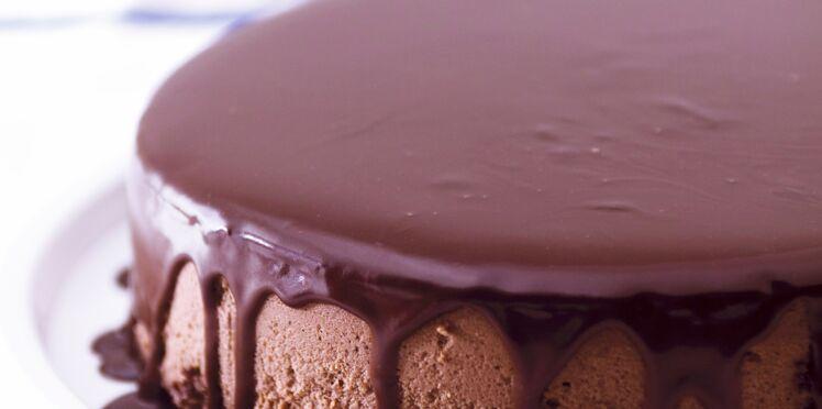 Gâteau mousseux chocolat et café