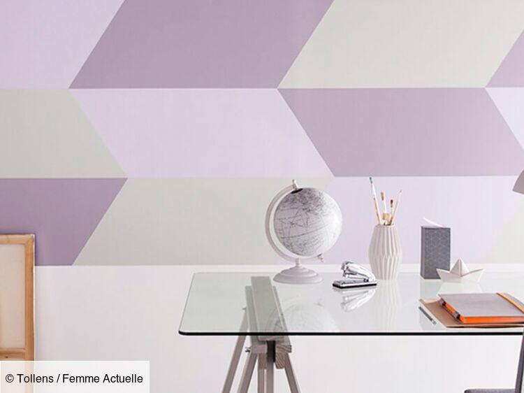 Idée Peinture Un Mur Graphique Femme Actuelle Le Mag