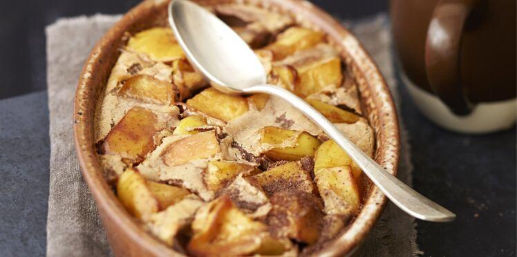 Clafoutis aux pommes au Carré Frais et Banania