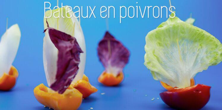 Cuisine créative : des petits bateaux en poivrons