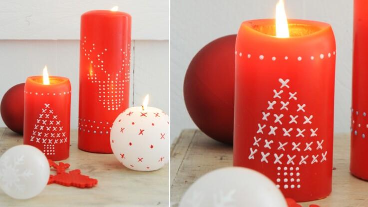 Comment décorer une bougie de Noël ?