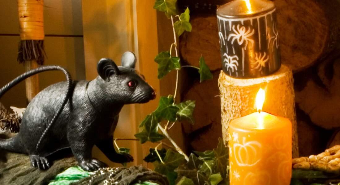 Des bougies gravées pour Halloween
