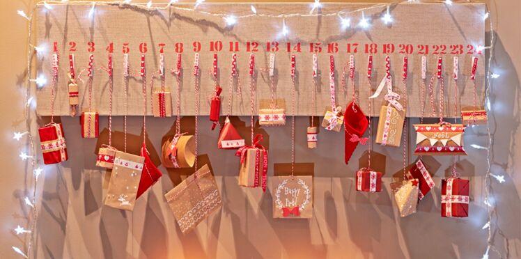 Déco de Noël : un tableau calendrier de l'Avent