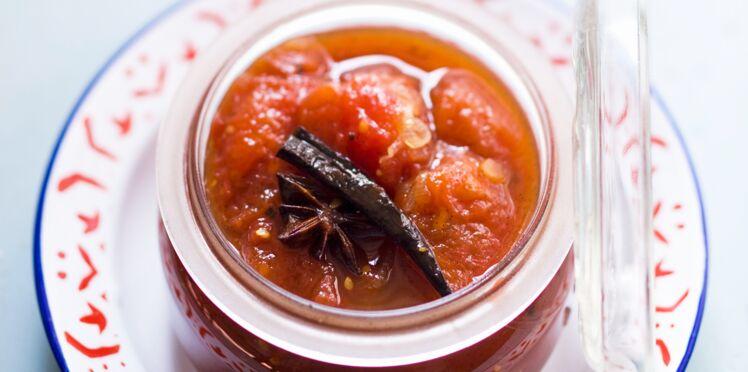 Chutney de tomates aux épices