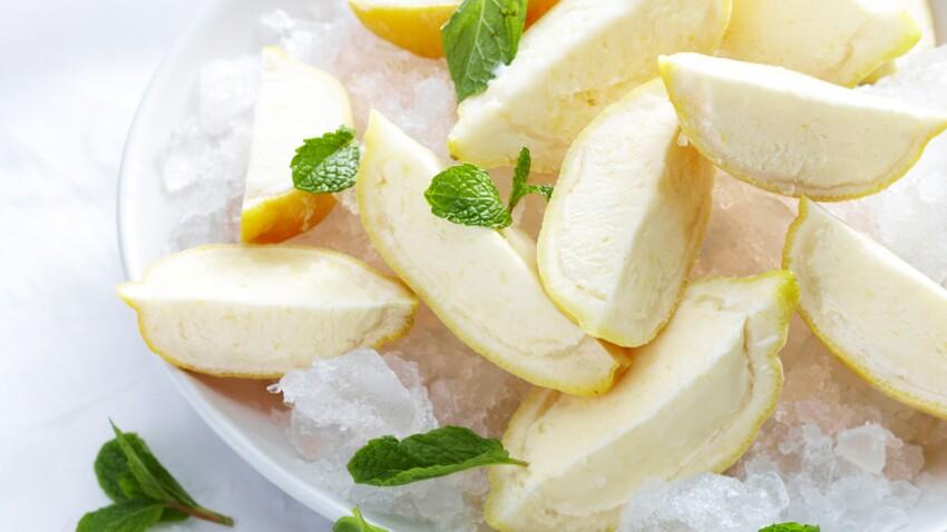 Citrons givrés au limoncello