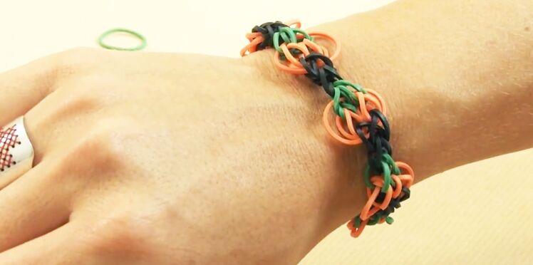 Halloween : le bracelet élastiques Rainbow Loom citrouille
