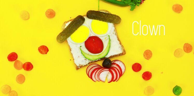 Cuisine créative : une tartine clown