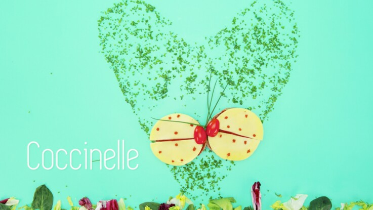 """Cuisine créative : une tartine """"coccinelle"""""""