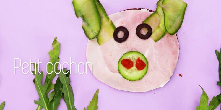 """Cuisine créative : une tartine """"petit cochon"""""""