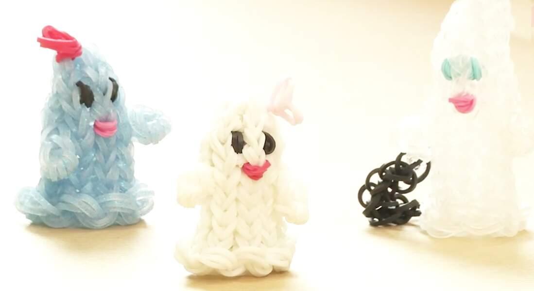 Figurines Halloween en élastiques Rainbow Loom : le fantôme