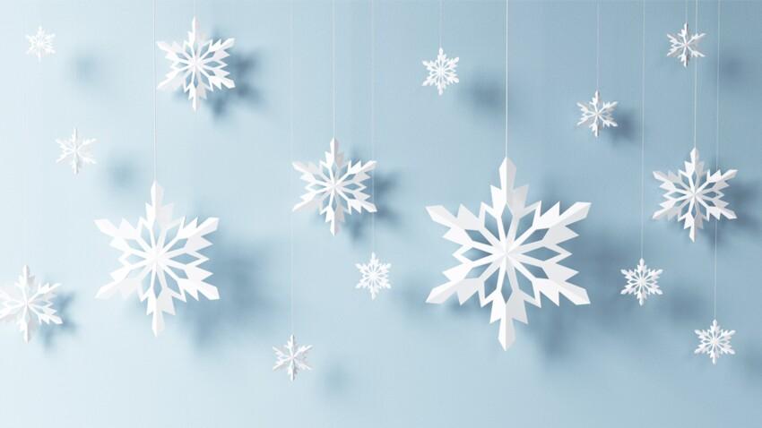 Facile, des flocons en papier pour Noël