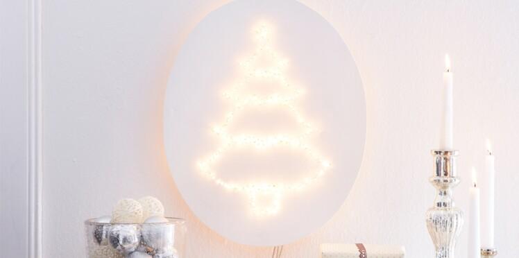 """Déco de Noël : une applique murale """"sapin"""""""