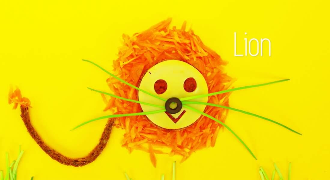 """Une tartine """"lion"""""""