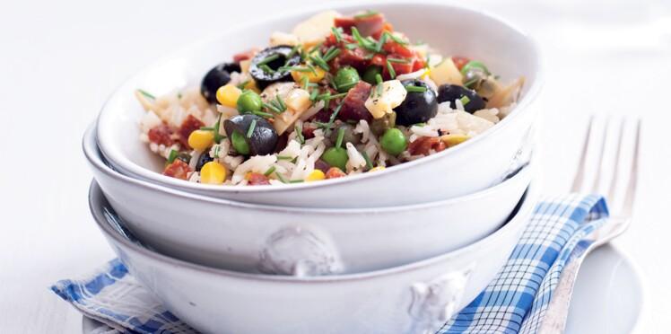 Méli-mélo de riz au chorizo