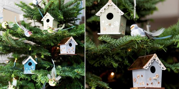 Déco de Noël : des nichoirs en bois