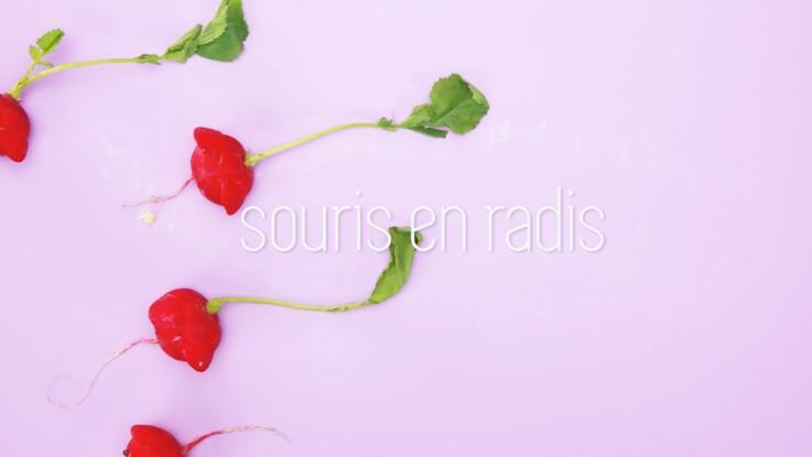 Cuisine créative : des souris en radis