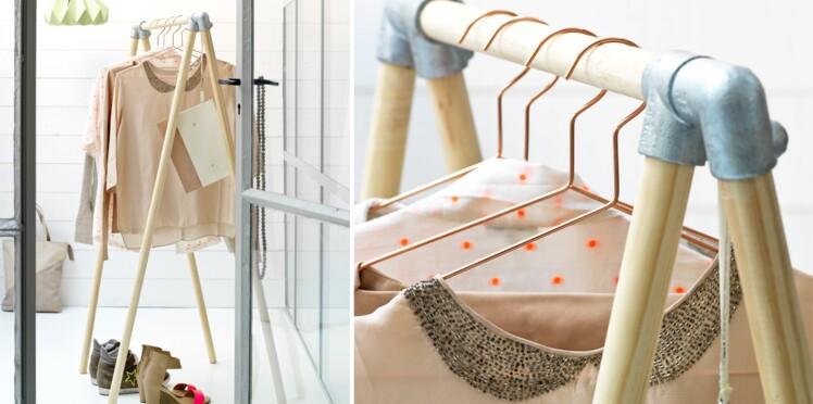 Fabriquer une penderie design en bois et alu : Femme Actuelle Le MAG