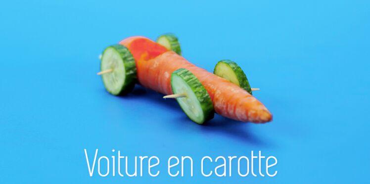 Cuisine créative : des voitures en carotte