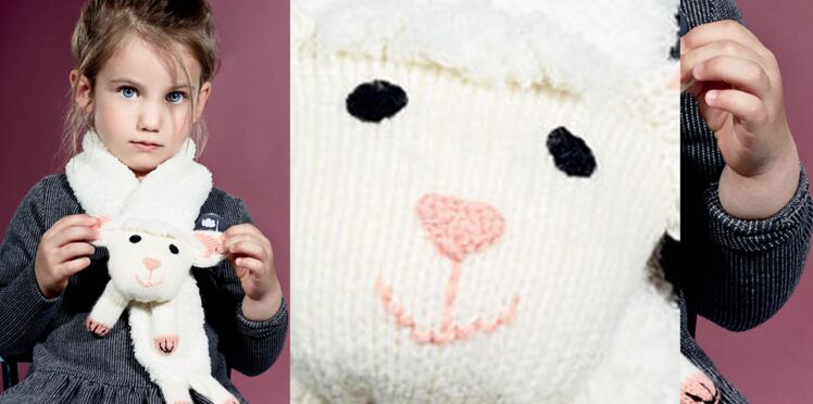 L' écharpe mouton tricot et crochet